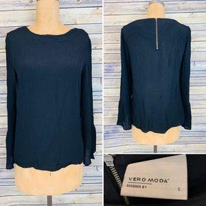 Vero Moda Black Long Sleeve top Size Small